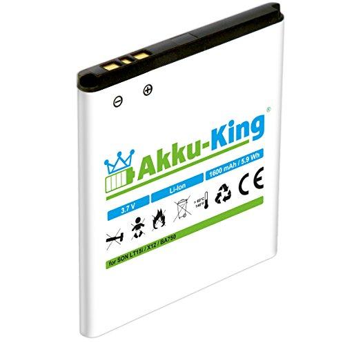 Akku-King Akku kompatibel mit Sony-Ericsson BA750 - Li-Ion 1600mAh - für Xperia Arc, Arc s, Anzu, LT15a, LT15i, X12, Sola