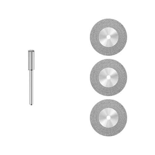 3x Diamant - Trennscheibe [Ø 30 x 0,6 mm] Fliesen - Glas/für Dremel, Proxxon