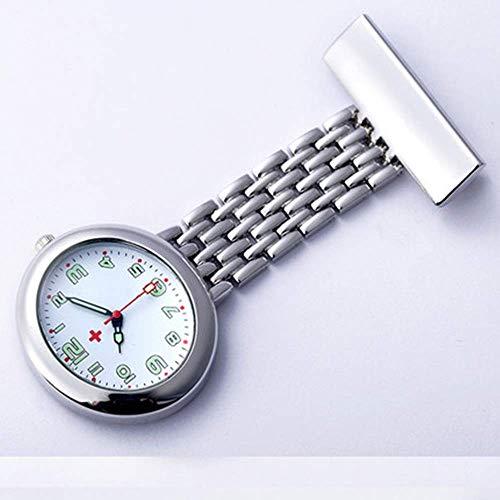 Enfermera Mesa Colgante Mesa de Pecho Moda Estudiante Reloj Tendencia Retro Hombres y Mujeres Reloj de Cuarzo Foto Reloj de Bolsillo para Mujeres