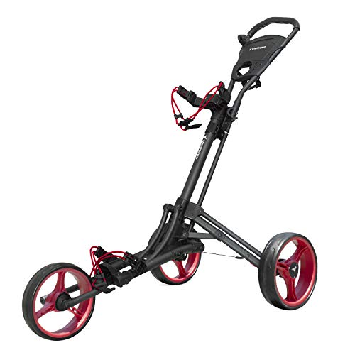 vilineke OneClick Golf Push Cart 3 Wheels Quick Fold and Light Trolley...