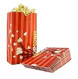 Snappy Popcorn Flat Bottom Theater Popcorn Bags, 46 oz, 100 Count, Orange, 3 Pound