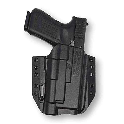 Holster for Glock 19 / 17 with Streamlight TLR-1 - OWB Holster for Concealed Carry / Custom fit to Your Gun - Bravo Concealment