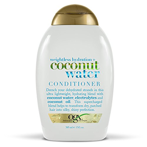OGX Weightless Hydration  Coconut Water Conditioner 13 Ounce Bottle  SulfateFree Surfactants