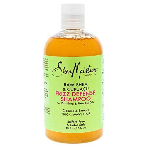 Shea Moisture Raw & Cupuacu Frizz Defense Shampoo for Unisex, 13 Ounce