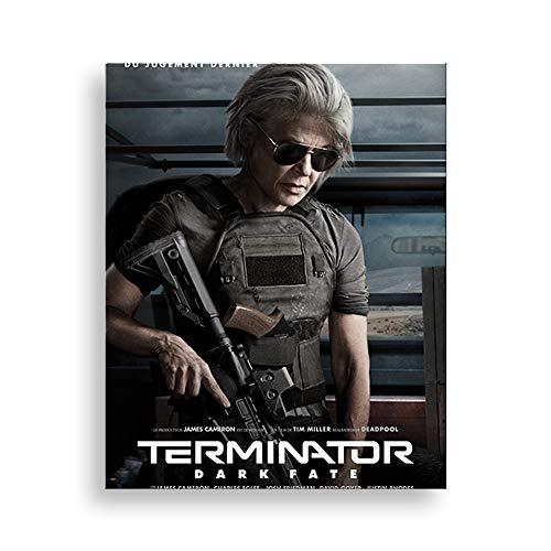5D DIY Diamond Painting Terminator: Dark Fate 30 * 40cm Bordado de cristal punto de cruz rhinestone mosaico dibujo arte artesanía decoración de la pared del hogar Sarah Conner