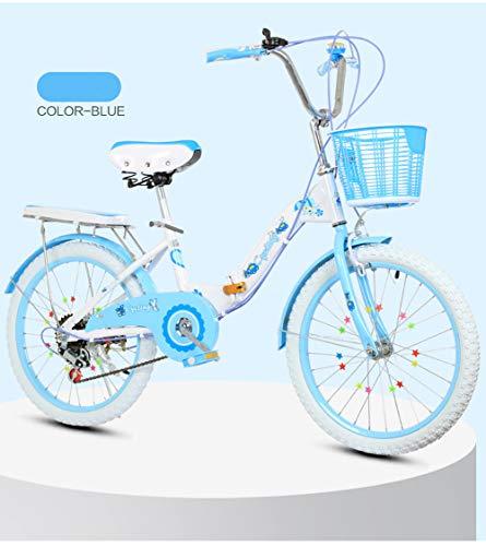 Fahrradausrüstung Klappräder Kinderfahrräder Mountainbikes Rennräder Fahrräder Schön Kinderwagen (16 inchesA,Blau)