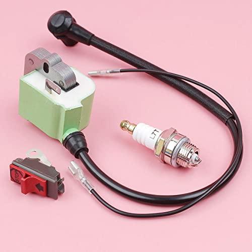 LSB-SHOWER Piezas de Herramientas eléctricas Bobina de Encendido de Repuesto Compatible con Husqvarna 272268 W/Interruptor de Parada de Encendido y Apagado Bujía 544018401