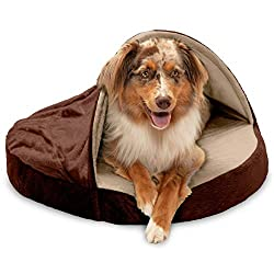 commercial Furhaven Pet Dog Bed-Wear a cozy blanket of orthopedic round hug nest micro velvet … round shaped beds