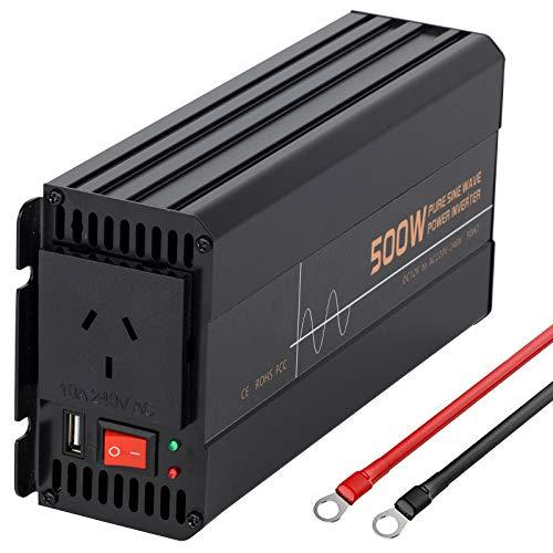 Reiner Sinus Wechselrichter 500W 1000W 1200W 1500W 2000W 2500W 3000W 3500W 4000W 5000W 6000W Spannungswandler DC 12V auf 220V 230V AC/KFZ Konverter Inverter Pure sine Wave,110V-500W