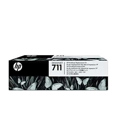 HP 711 Originales DesignJet Druckkopf-Austauschkit C1Q10A, für HP DesignJet T120, T125, T130, T520, T525, T530 Großformatdrucker, kompatibel mit HP 711 Druckerpatronen in Schwarz, Cyan, Magenta, Gelb