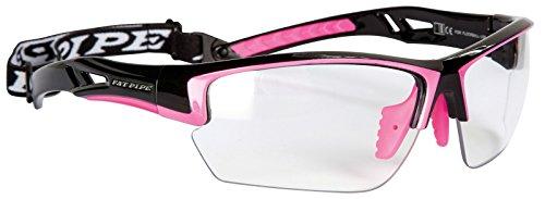 Floorball & Unihockey Schutzbrille JUNIOR | FAT PIPE | Farbe: Schwarz/Pink | mit IFF Zertifikat für geprüfte Qualität