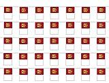 Durabol Cadena Bandera de Castilla Mancha Comunidades autónomas de España 70 Banderin 20 X 30 CM - 50 Metro (Castilla Mancha 1)