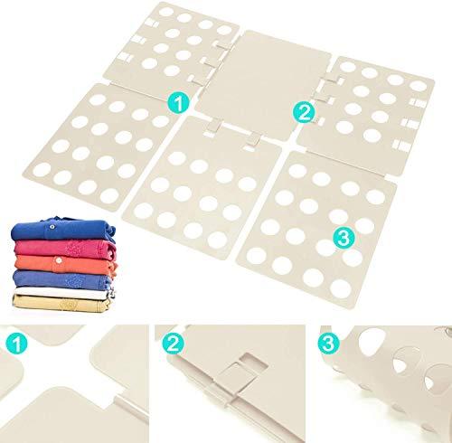 MorNon Camiseta Carpeta Ropa Camiseta Tablero Plegable Flip Fold Organizador Lavandería Fácil Rápido Niños Adultos para Doblar Blanco