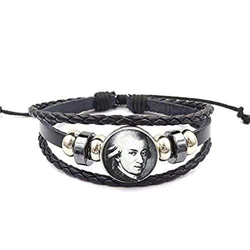 lianglimin Halskette Schmuck Glas S Schwarzes Leder Armband Armreif Bijouterie Für Frauen Hochwertige Mädchen