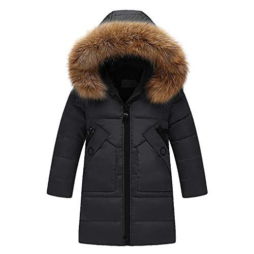 Great Features Of Girls Long Down Coat Kids Hooded Puffer Parka Jacket Winter Padded Outerwear 5 6 7...