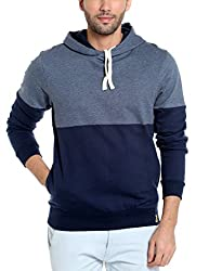 Campus Sutra Mens Cotton Solid Hoodie