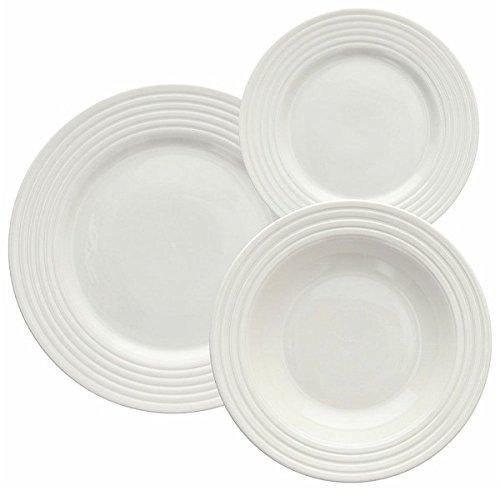 Tognana Servizio tavola 18 Pezzi Rings, Porcellana, Bianco