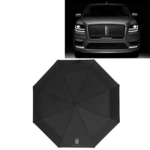 AUTOS Car Travel Folding Umbrella,Umbrella Ergonomic Handle Open & Close, Compact Portable Umbrella with Car Logo,L_incoln
