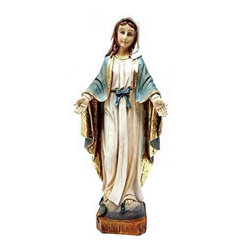 Inmaculada Romero IR Figura Virgen La Milagrosa Imagen 21Cm. Adorno Resina Decoración