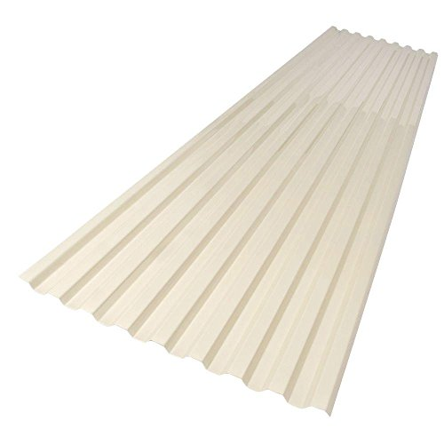 Suntuf 26 in. x 6 ft. Smooth Cream Polycarbonate Roof Panel