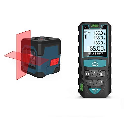 Laser Level LV1 + Laser Measure 165 Feet Digital Laser Distance Meter