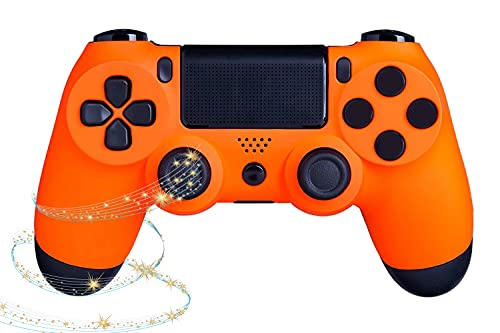 PS4 Controller Remote Wireless Bluetooth, with Led Touch Pad and Dual Vibration, Non-Slip & Anti-Sweat, Ergonomic Design, Share Button High-Sensitive Joystick, Game Pad for PS4/PS4 Pro/PC and Laptop