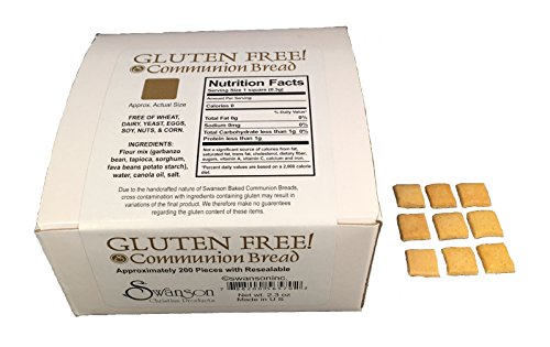 Baked Gluten Free Communion Bread - Square Shape (Pack of 200)