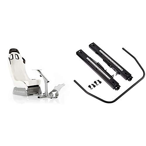 Playseat Evolution M Weiß/Silber & Playseat Seat Slider