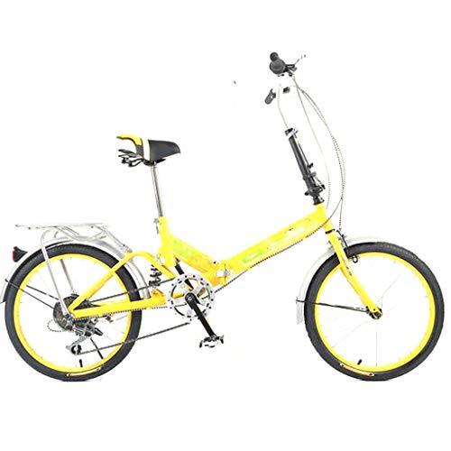 YUEXIN 20' Bicicleta 6 velocidades Plegable Urbana Folding Bicicleta Plegable Cuadro Aluminio Ruedas,Bike Bicicleta Plegable,Bicicleta Plegable Street,Adultos, Transporte público