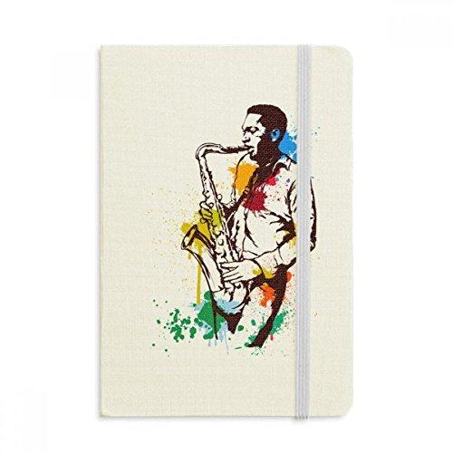 DIYthinker Watercolor Street Man Rock Muziek Schilderij Notebook Stof Hard Cover Klassieke Dagboek A5 A5 (144 X 210mm) Multi kleuren