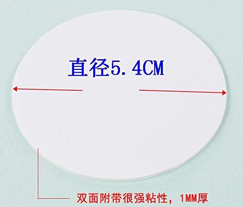 LSGDSXMIY Zuignap Hulpstickers Krachtige Magic Stickers Badkamer Tegel Tweezijdige auto Rij-Recorder geen Trace Stickers Lijm Accessoires, Wit Diameter 5.4CM
