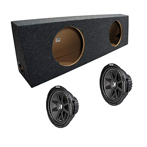 "ASC Package Dual 12"" Kicker Sub Box Regular Cab Truck Subwoofer Enclosure C12 Comp 600 Watts Peak"