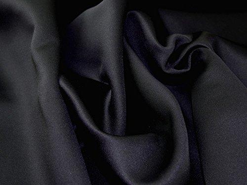 Kleiderstoff, Polyester, Spandex, Stretch, Neopren, Schwarz, Meterware