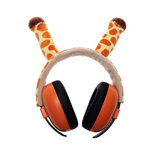 Macabolo Noise Cancelling Muffs, schattige kikker giraffe vorm kinderen gehoorbescherming oorbescherming baby oorbescherming geluidsbescherming koptelefoon