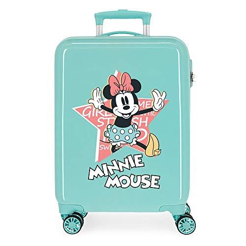 Disney Mickey That´S Easy Maleta de Cabina Verde 38x55x20 cms Rígida ABS Cierre de combinación Lateral 34L 2,5 kgs 4 Ruedas Dobles Equipaje de Mano