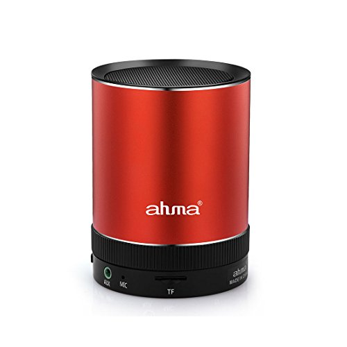Ahma 025 Bluetooth Portable Wireless speaker, 3W Output Power with Enhanced Bass, build in Microphone for hand free phone call (Red)