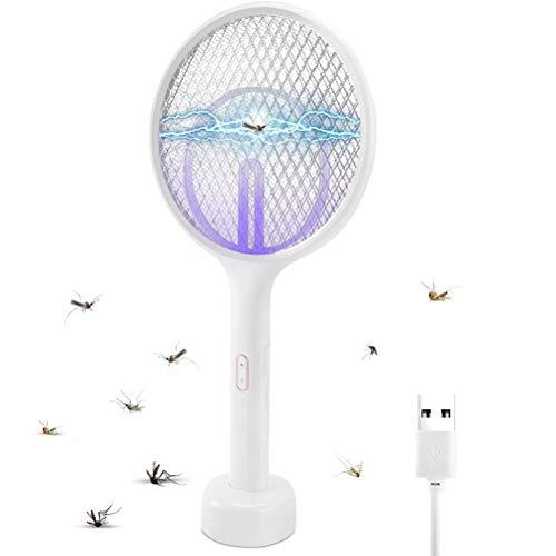 Lubudup Matamoscas Eléctrico Matamoscas Plegable Matamoscas Matamoscas, Mosquito Insect Killer USB Recargable...