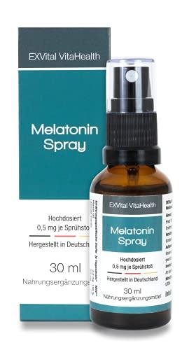 Melatonin Spray, Liquid Melatonin mit Lavendel Extrakt & Vitamin B6-0,5 mg Melatonin pro Sprühstoß, 30 ml Sprühflasche mit SOFORT EFFEKT- Hochdosiert & in Deutschland hergestellt