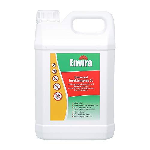 Envira Universal Insektenspray - Insektizid Mit Langzeitwirkung - Insektenschutz Auf Wasserbasis, Geruchlos - 5 Liter