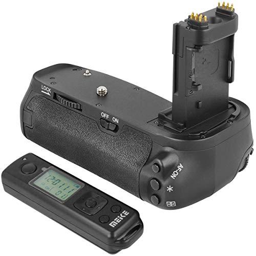 Meike Batteriegriff Akkugriff Battery Grip kompatibel mit Canon 6D Mark II Ersatz für Canon BG-E21 inkl. Fernauslöser mit 2.4 Ghz Funk Frequenz – MK-6D2 Pro