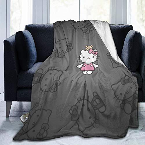 Manta de Hello Kitty de la marca FashionDIY para adultos y niños, diseño de Hello Kitty