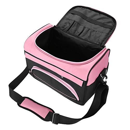 Friseur Bag - kosmetischer Beutel, große Kapazitäts Friseurausruestung Tragetasche mit Gurt Rose Pink