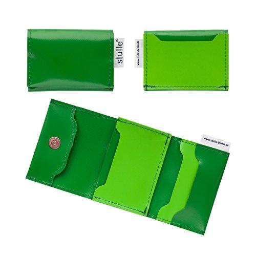 Kreditkartenetui | EC-Kartenetui für Damen und Herren | 100% Handarbeit aus LKW-Plane | nachhaltig und vegan (dunkelgrün/hellgrün)