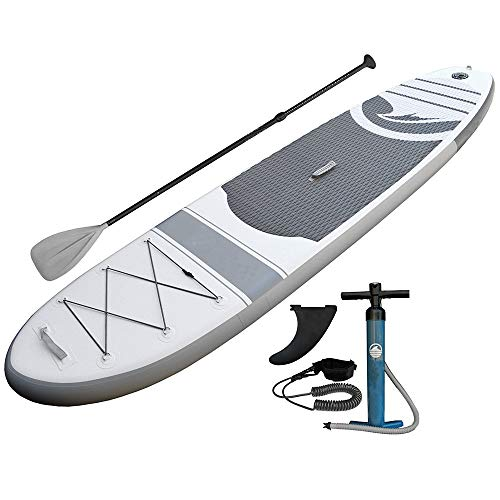 Inflatable Stand Up Paddle Board Unisex Adult Wide Inflatable Stand Up Paddle Board SUP Surfboard with Paddle and Leash for Touring,Surfing,Water Yoga and Racing Full SUP Accessories