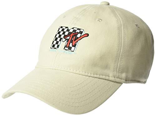 MTV Damen Checkered Logo Baseball Cap, Stone, Einheitsgröße