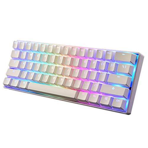 Gettesy Mechanische Gaming Tastatur 60{4342117b9befe6a1ac6cdf9d80945bbcd8c8f81de78a52bf7178d1a7c32c112c}, 61 Tasten Gaming Tastatur, RGB Hintergrundbeleuchtung, Mechanische Tastatur für IOS, Android und Windows