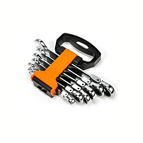 Conjunto de herramientas de llave de llave llave de llave llave de llave trinquete 5/6/7 / 12pcs herramientas de reparación de automóviles Conjunto de llave herramientas de mano Llave inglesa ajustabl