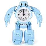 Moligh doll Reloj Despertador Robot para Ni?Os Reloj de Juguete para Ni?Os Robot de DeformacióN Relojes de Mesa Reloj de Escritorio de Dibujos Animados para Estudiantes Regalo para Ni?Os