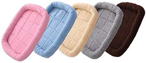 Warm hondenbed, comfortabel bed om te slapen zachte hond, kasjmier bed van lam voor huisdieren wasbaar nest voor dieren anti-slip bank voor dieren rieten manden voor middelgrote honden kleine huisdieren, vele kleuren / maten, M(60x50cm), Blauw