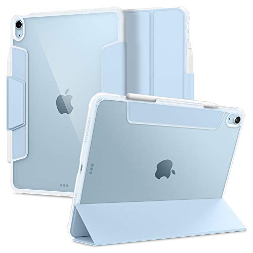 Spigen Ultra Hybrid Pro diseñado para iPad Air 4 10.9 Funda con portalápices (2020) - Cielo Azul